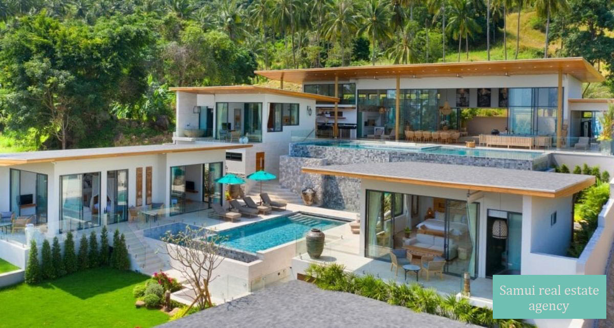 Luxury 6 bedroom villa with sea view – Chaweng – Koh Samui